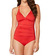 Jantzen Solid Macrame Back One Piece Swimsuit 7010