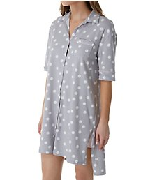 Jockey Sleepwear Love that Lasts Boyfriend Button Front Sleepshirt JK31525