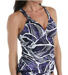 La Blanca Bali Hi Halter Goddess Tankini Swim Top B8YD84X