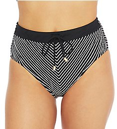 La Blanca Pin Stripes Belted High Waist Swim Pant LB0GX90