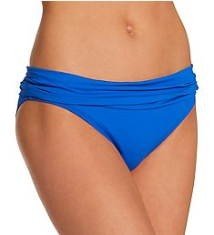 La Blanca Island Goddess Shirred Band Hipster Swim Bottom LB0IG95