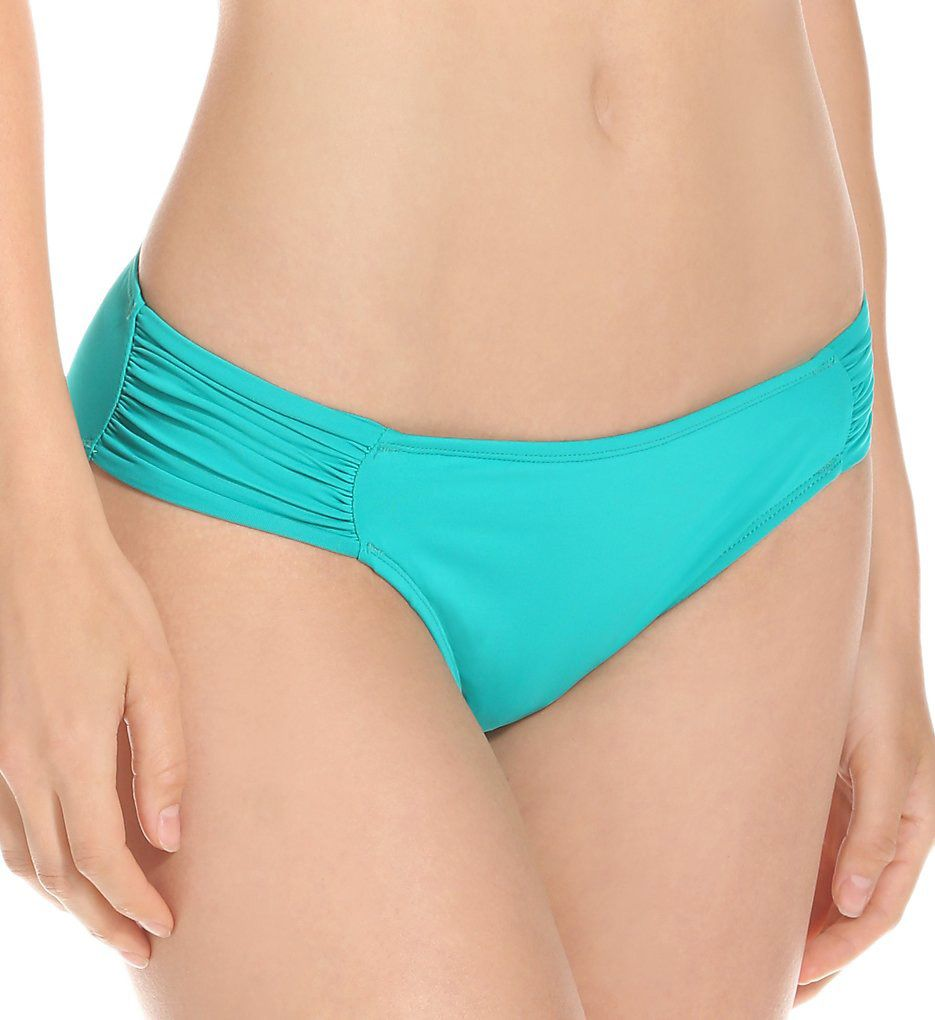 La Blanca Core Solid Shirred Sided Hipster Swim Bottom LB5R096