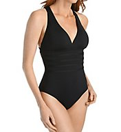 La Blanca Island Cross Back Mio One Piece Swimsuit LB6BA22