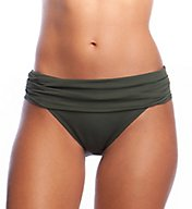 La Blanca Island Goddess Shirred Waist Hipster Swim Bottom LB6BA95