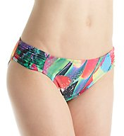 La Blanca Feathering Side Shirred Hipster Swim Bottom LB6JC96