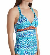 La Blanca All In The Mix Goddess Tankini Swim Top LB71A84
