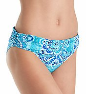 La Blanca All In The Mix Shirred Band Hipster Swim Bottom LB71A95