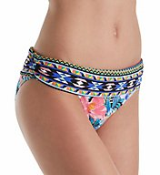 La Blanca Tropicali Shirred Band Hipster Brief Swim Bottom LB7AB95