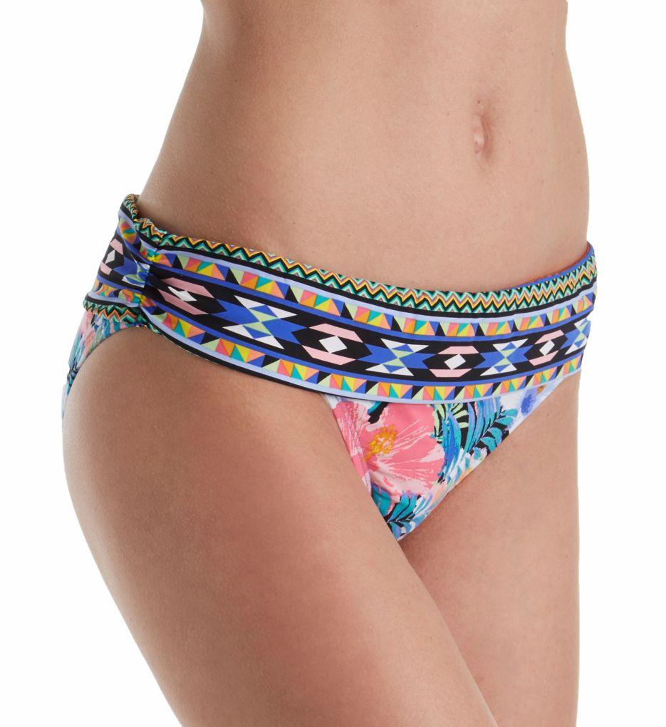 La Blanca Tropicali Shirred Band Hipster Brief Swim Bottom LB7AB95
