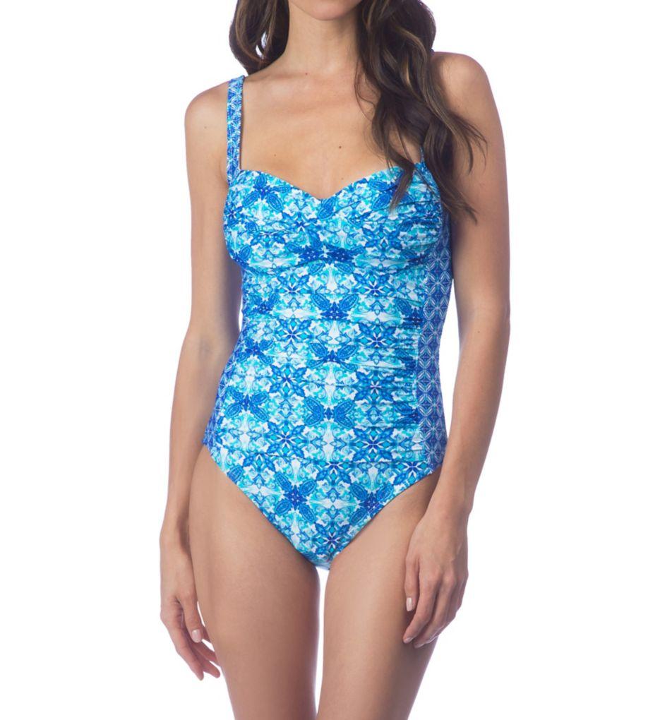 La Blanca True Blue Sweetheart Mio One Piece Swimsuit LB7AW13