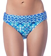 La Blanca True Blue Shirred Band Hipster Swim Bottom LB7AW95