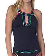 La Blanca Threading Along High Neck Tankini Swim Top LB7BT86