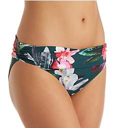 La Blanca Beyond The Jungle Shirred Band Hipster Swim Bottom LB8KD95