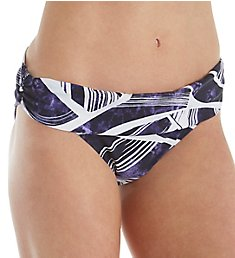 La Blanca Bali Hi Shirred Banded Hipster Swim Bottom LB8YD95