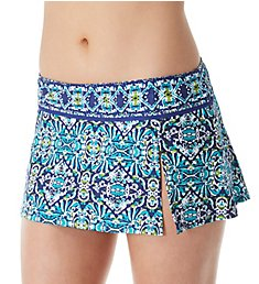 La Blanca Tuvalu Tapa Skirted Brief Swim Bottom LB8YG99