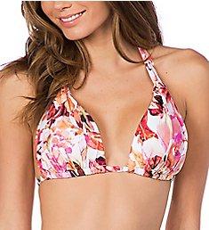 La Blanca Painted Love Halter Bikini Swim Top LB9EF80