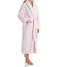 La Cera 100% Polyester Honeycomb Fleece Robe 8815