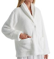 La Cera 100% Polyester Honeycomb Fleece Bed Jacket 8825