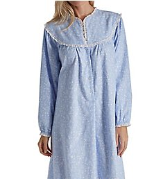 Lanz of Salzburg Long Sleeve Flannel Gown 5416828