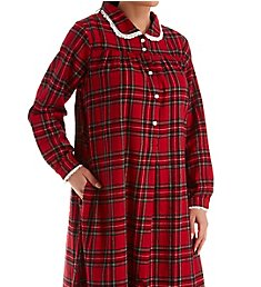 Lanz of Salzburg Long Sleeve Flannel Gown with Peter Pan Collar 5616839