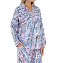 Lanz of Salzburg Long Sleeve Flannel Pajama Set 5716839