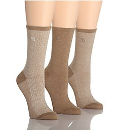 Lauren Ralph Lauren Tweed Cotton Trouser Socks - 3 Pair Pack 34004