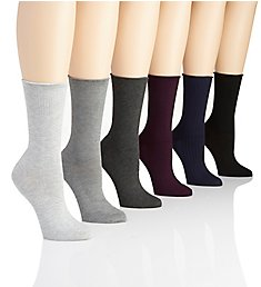 Lauren Ralph Lauren Assorted Textured Trouser Sock - 6 Pair Pack L3126