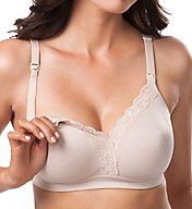 Leading Lady Nursing Silky Lace Wirefree Nursing Bra 4006