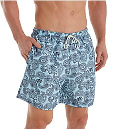 Leo Paisley Print Swim Trunk With Mesh Liner 505014