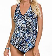 MagicSuit Sea Glass Underwire Removable Pad Tankini Swim Top 6000252