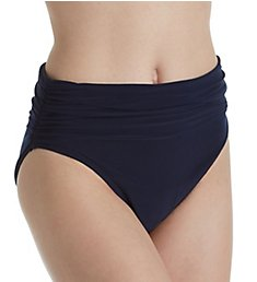 MagicSuit Solids Jersey Brief Swim Bottom with Shirring 6003059
