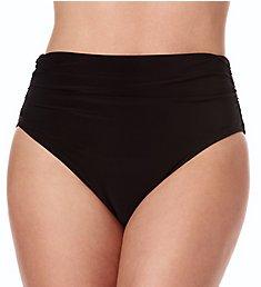 MagicSuit Solid Jersey Shirred Brief Swim Bottom 6006059