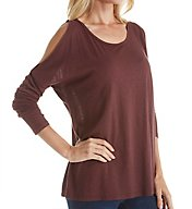 Michael Stars Luxe Slub Long Sleeve Cold Shoulder Tee 6537