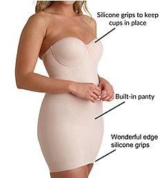 Miraclesuit Real Smooth Strapless Bra Slip with Built-In Panty 2752