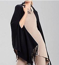 N by Natori Chenille Blanket Shawl with Fringe BC4124