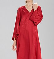 N by Natori Animal Satin Jacquard Caftan CC0011