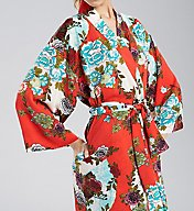 N by Natori Blossoming Fans Long Robe CC4001