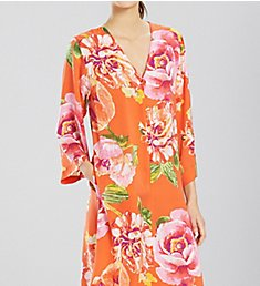 N by Natori South Pacific Silky Satin Zip Caftan EC0031