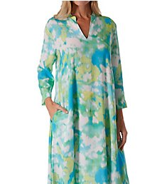 N by Natori Watercolor Long Sleeve Caftan EC0128