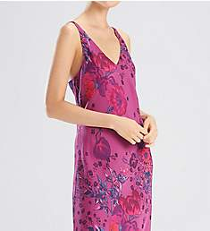 N by Natori Impressions Printed Silky Satin Gown FC3043