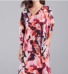 N by Natori Summer Foliage 52 Inch Caftan GC0075