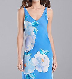 N by Natori Floral Printed Silky Satin Gown GC2013