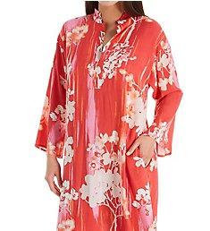 N by Natori Cherry Blossom Silky Satin Sleepshirt GC2051