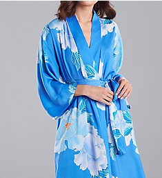 N by Natori Floral Printed Silky Satin Robe GC4013