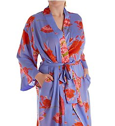 N by Natori Papillion Garden Wrap Robe KC4049