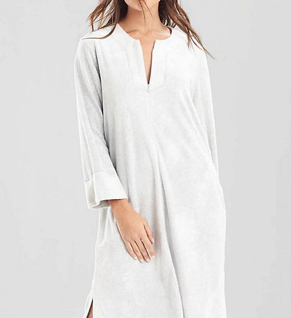 N by Natori Terry Lounge Long Zip Caftan XC0028