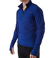 New Balance Space Dyed Quarter Zip Long Sleeve Shirt MT53030