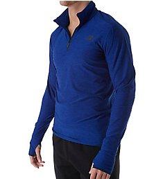 New Balance Space Dyed Quarter Zip Long Sleeve Shirt MT53030