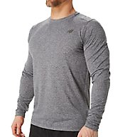 New Balance Performance Long Sleeve Heather Tech Shirt MT53080