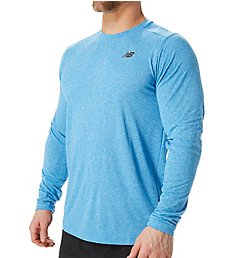 New Balance Performance Long Sleeve Heather Tech Shirt MT53080